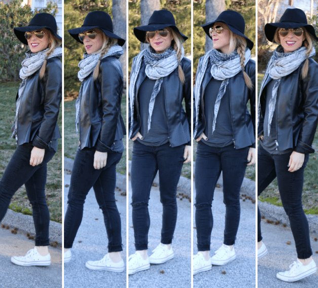 What to wear with a black leather jacket