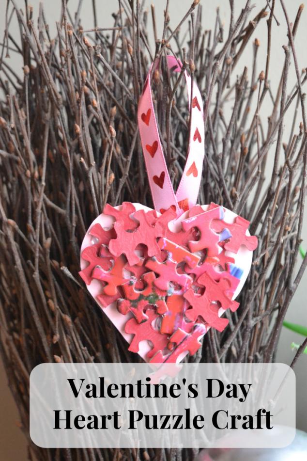 Valentine's Day Heart Puzzle Craft