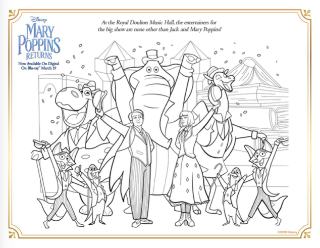 Mary Poppins Movie Activity Sheets