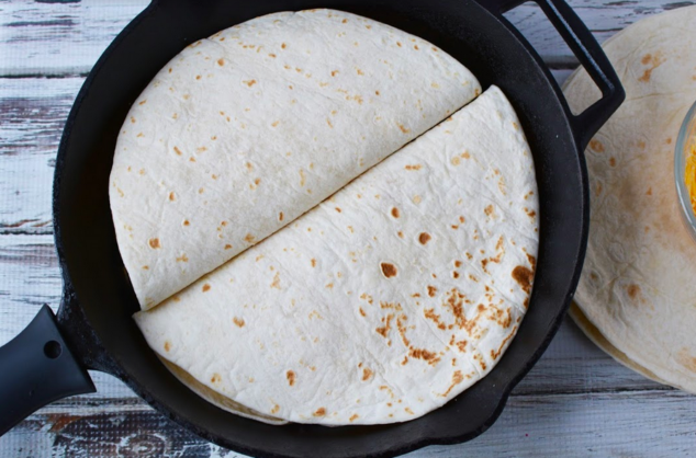 Quesadillas on the stovetop