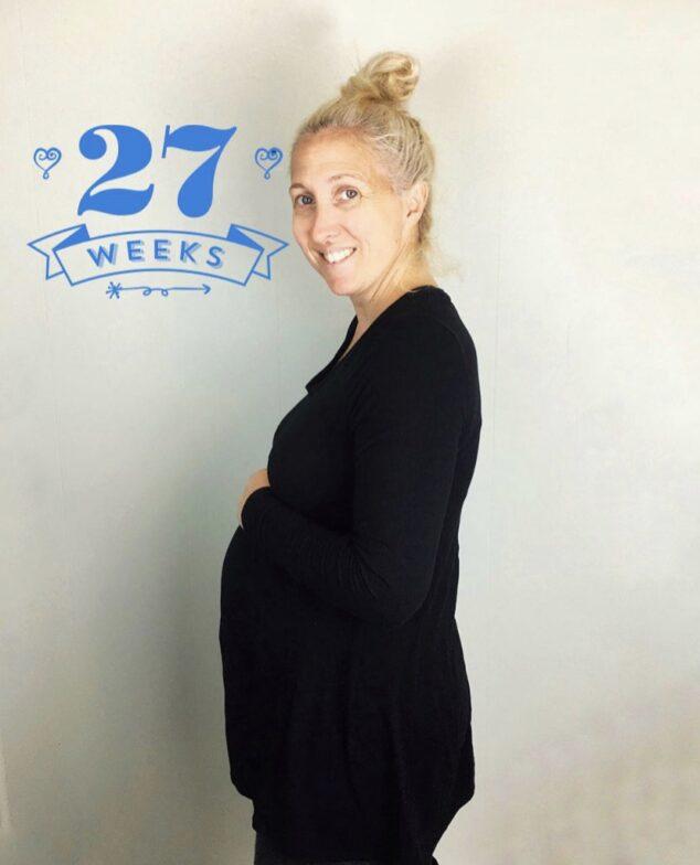 27 Weeks Pregnant Belly