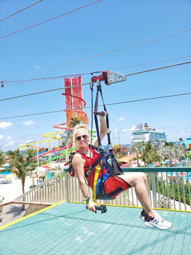 Zip Lining at Royal Caribbean CocoCay