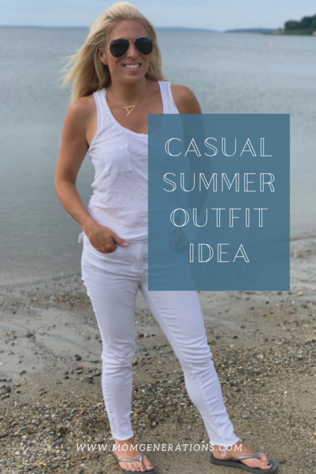 Casual Summer Outfit - Summer Whites