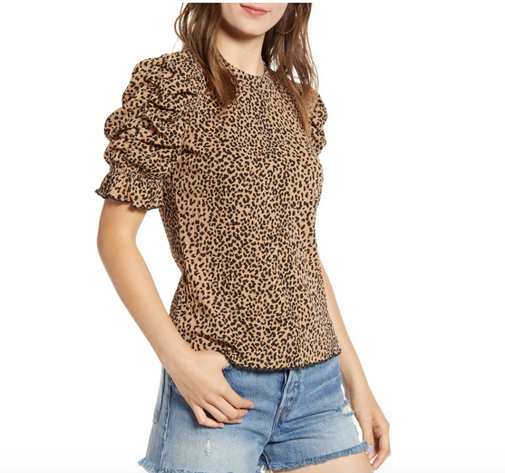 Leopard Print Blouse - Fall Fashion