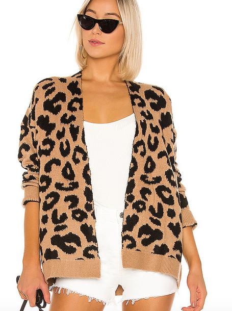 Short Leopard Cardigan