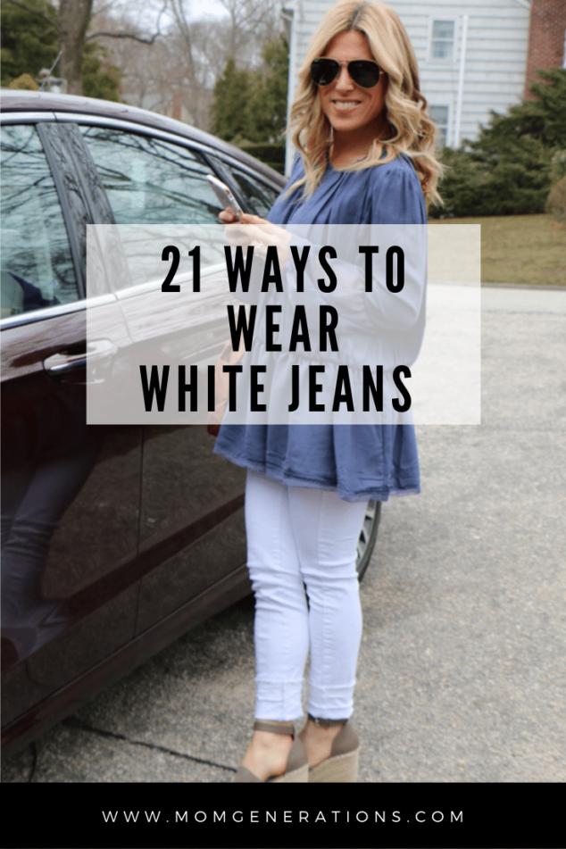 21 Ways to Wear White Jeans