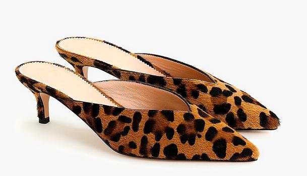 Sophia kitten heels in leopard calf hair