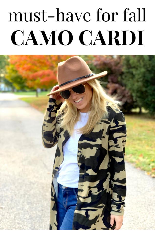 Camo Cardigan