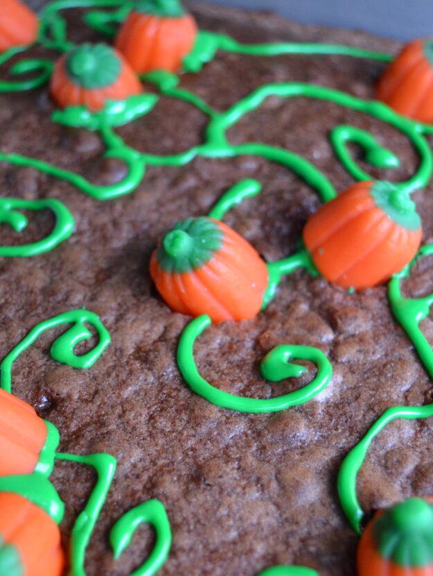 Pumpkin Brownies for Autumn Dessert Treat