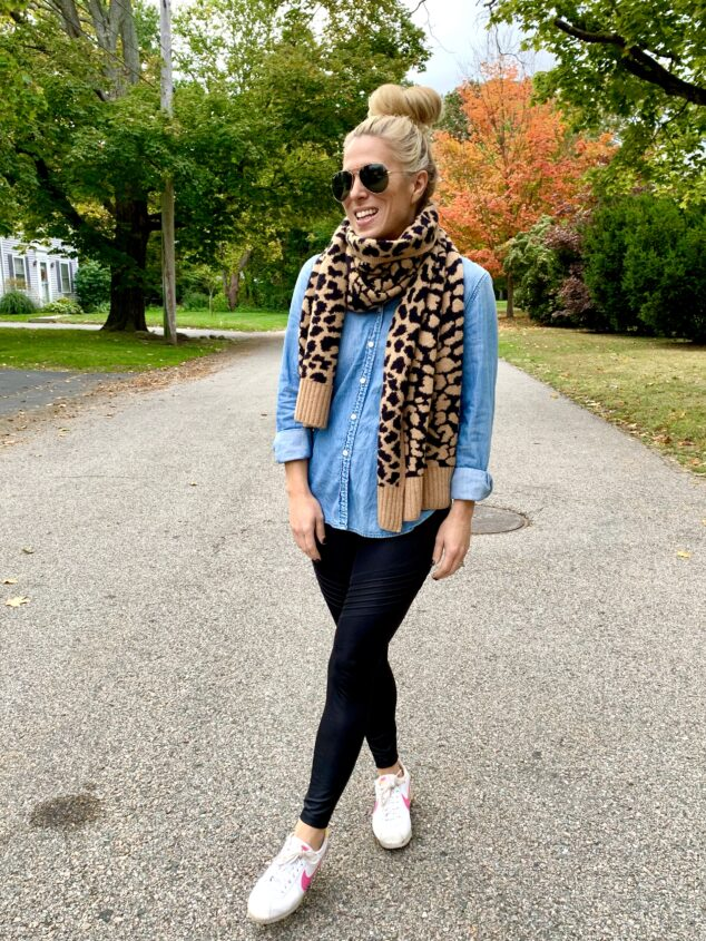 Leopard Print Scarf for Fall
