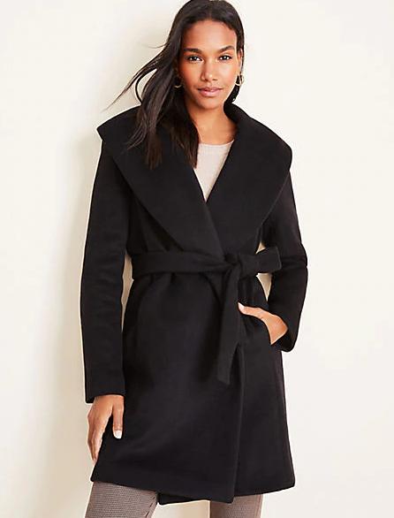 Shawl Collar Wrap Coat