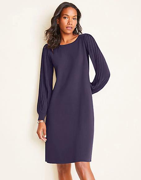 Ribbed Sleeve Sweater Dress