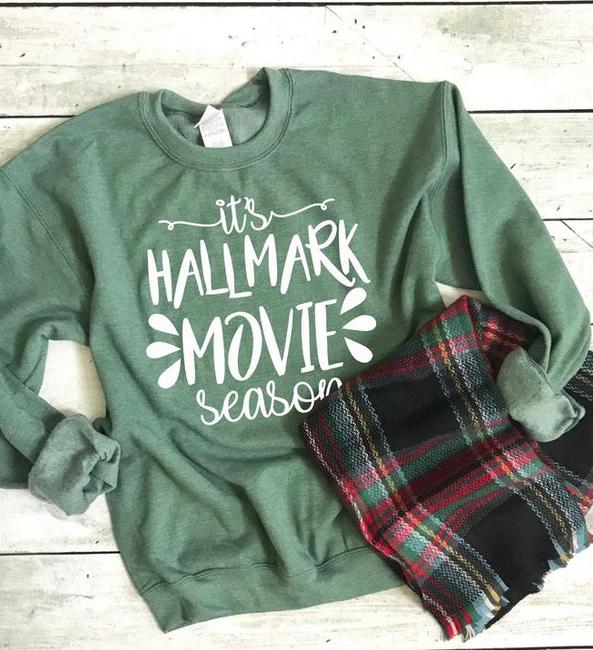 Hallmark Sweater For Women - HAllmark Movie Shirt - HAllmark Movie Season Sweatshirt - Gift For HAllmark Movie Lovers - HAllmark Movie Gift