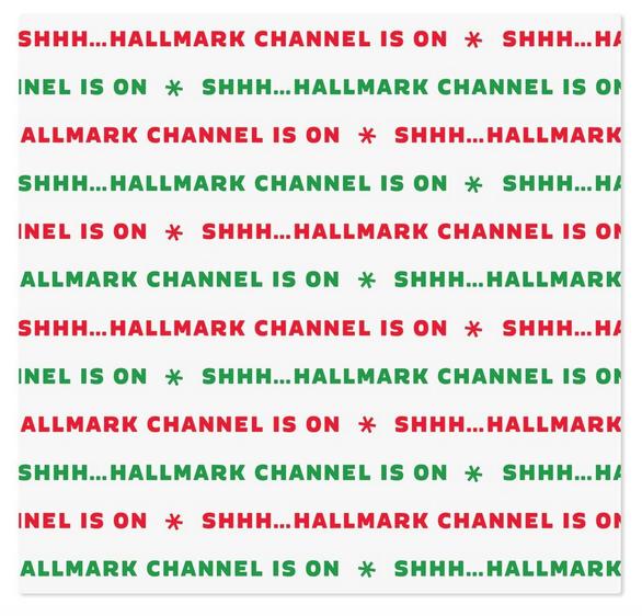 Shhh...Hallmark Channel Is On Throw Blanket, 50x60