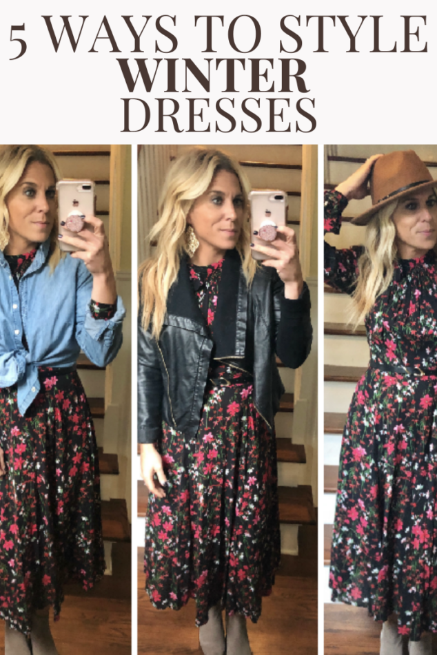 How to Style Winter Dresses