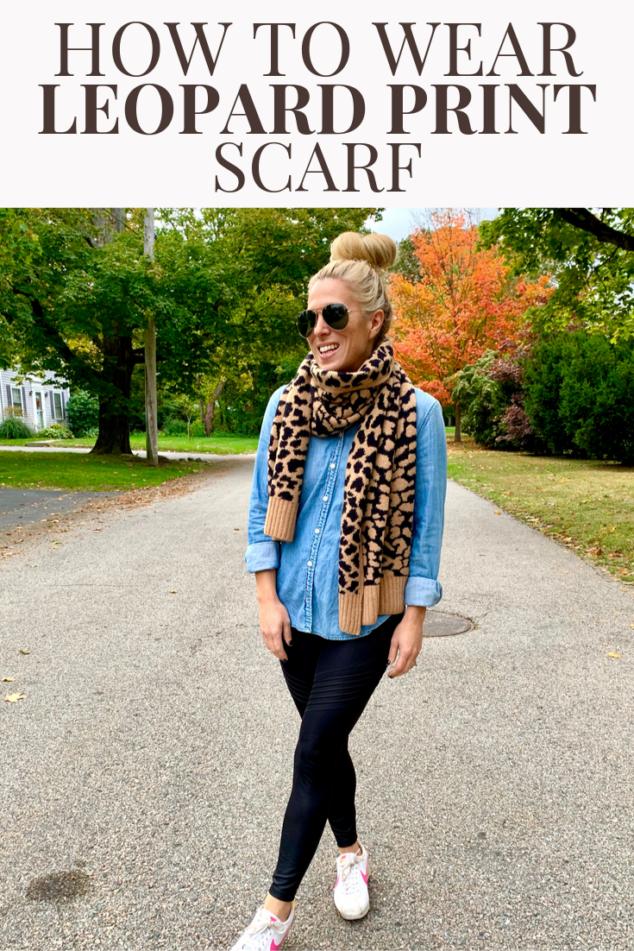 Leopard Print Scarf Fall Trend