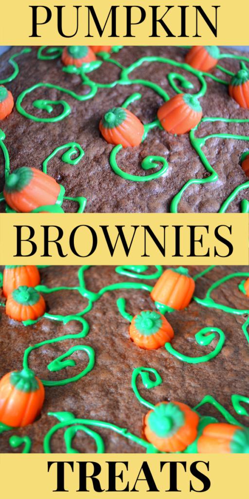 Pumpkin Brownies - Autumn Dessert Treats