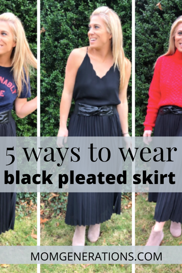 5 Ways to Style a Black Pleated Skirt