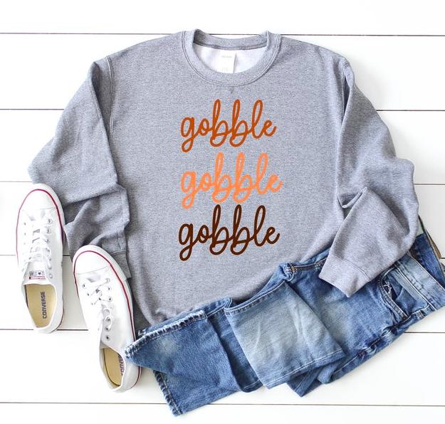 gobble gobble gobble shirt - womens thanksgiving shirt - Thanksgiving shirt women - funny thanksgiving shirt - thanksgiving outfit