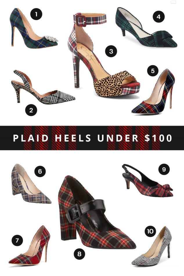 Plaid Heels - Winter Style
