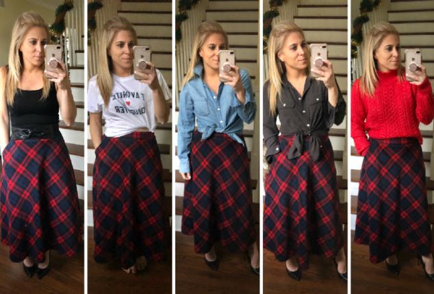 Tartan Skirt - 5 Ways to Style