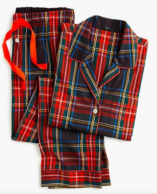 Vintage pajama set in Stewart tartan