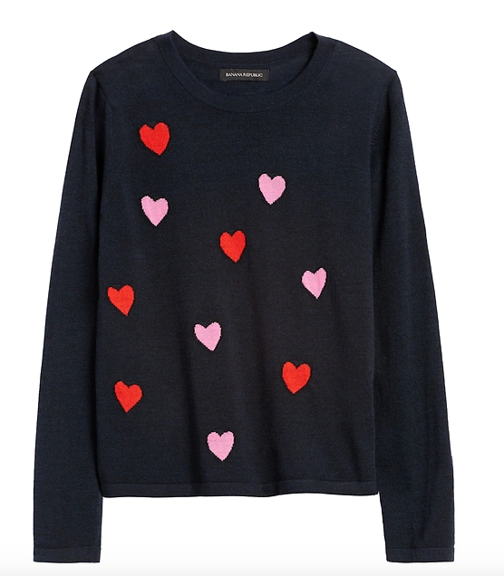 Valentine's Day Clothes - Floating Heart Sweater