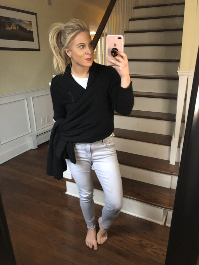 Womens Sweater Wrap - How to Style it 5 Different Ways