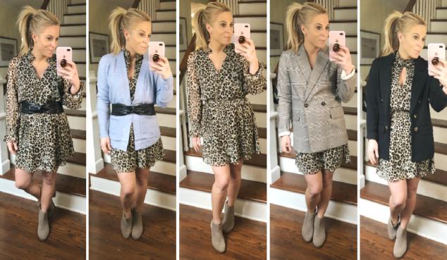 5 ways to wear leopard print dress