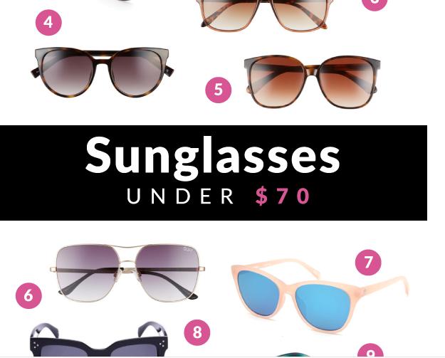 Sunglasses under $70