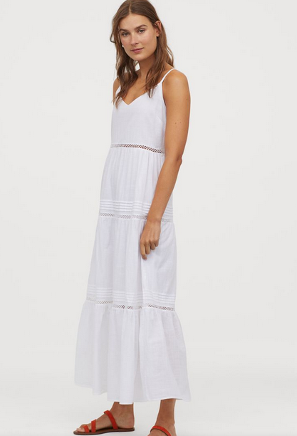 V-neck Cotton Dress