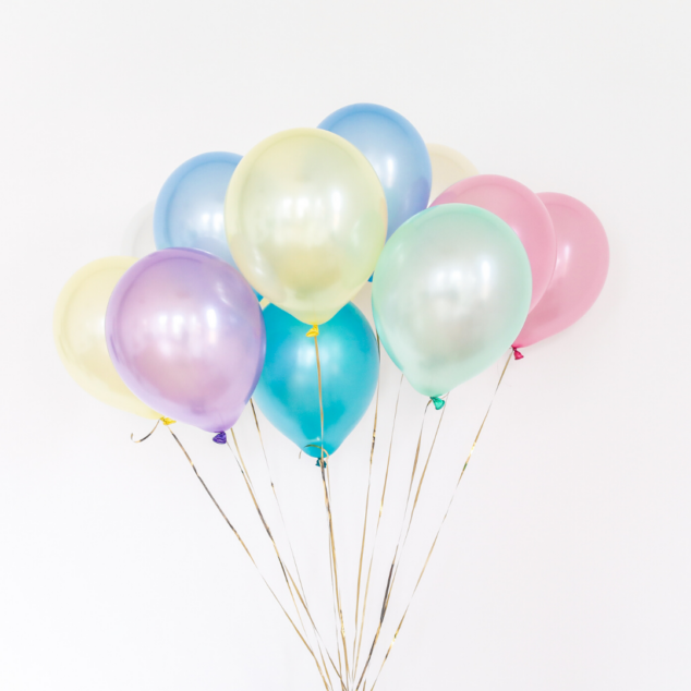 Bundle of balloons for a birthday