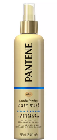 how to detangle knotted hair - pantene conditioning mist