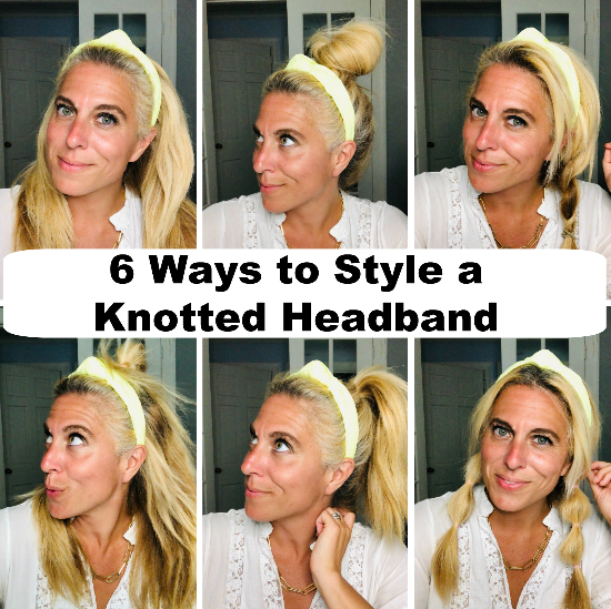 How to Wear a Knotted Headband