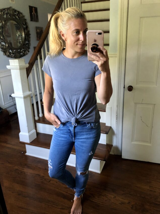 Knot Front Tee - 8 Ways to Style