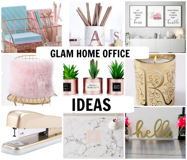 glam home office ideas