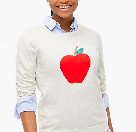 J.Crew Apple Teddy Sweater