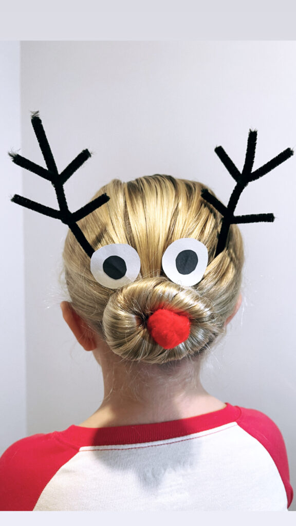 Reindeer Hairstyle for the Holidays