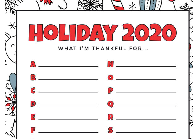 Holiday Thankful List