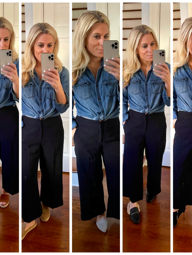 How to Style Black Wide Leg Pants