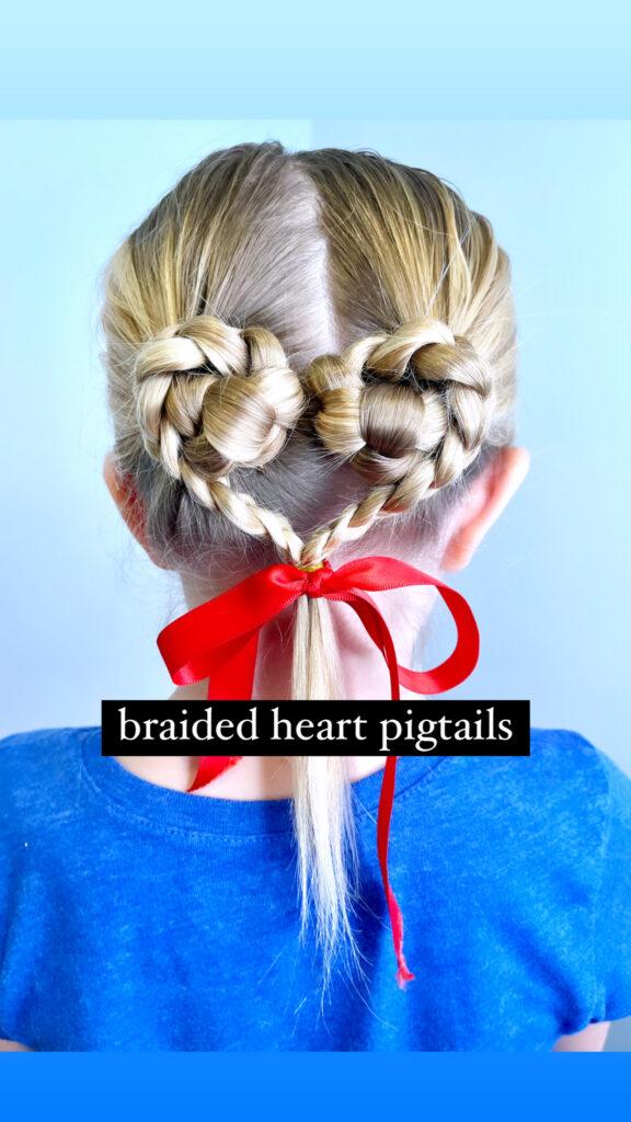 Heart Hair Braid Hairstyle