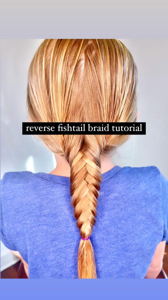 reverse fishtail braid hairstyle