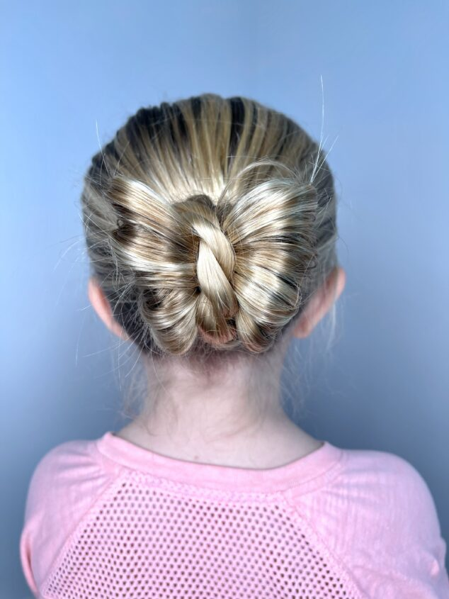 butterfly bun hairstyle for girls