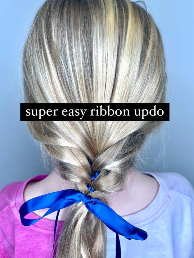 Simple Ribbon Updo