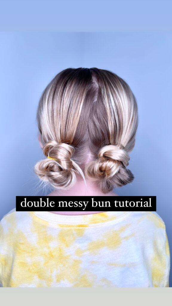 easy buns for long hair