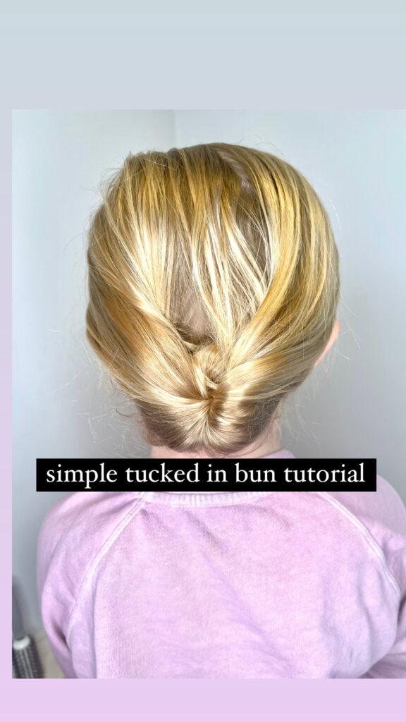 Tucked Bun Hairstyle