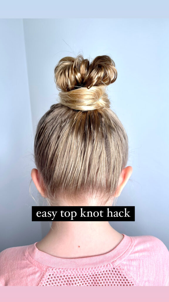 Easiest top knot ever