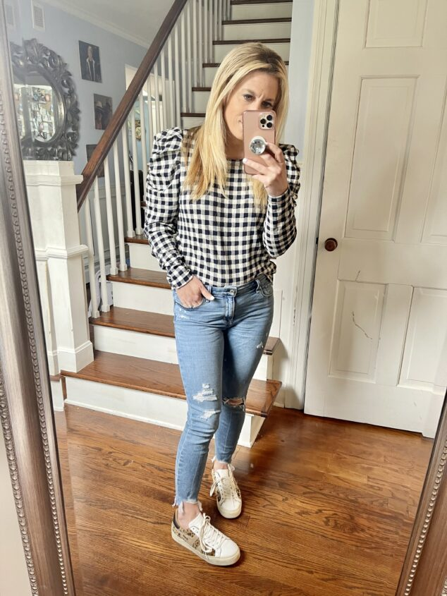 ripped jeans over 40 for moms