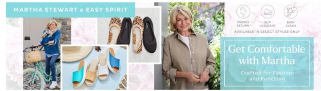Easy Spirit X Martha Stewart