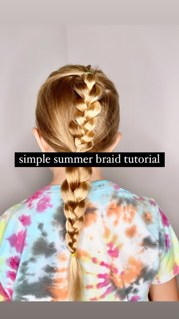 Cute and Easy Summer Hairstyle